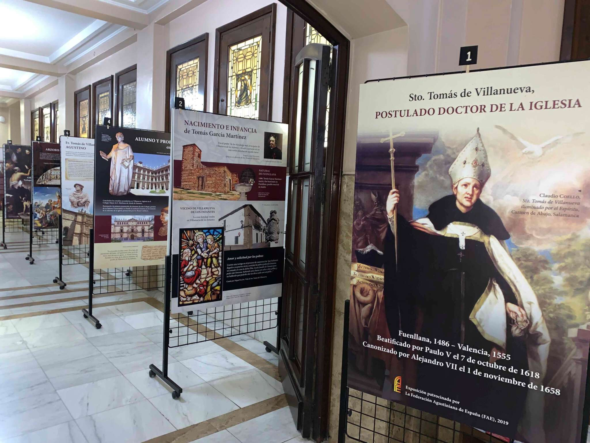 Exposición de Sto. Tomás organizada por la Orden de San Agustín