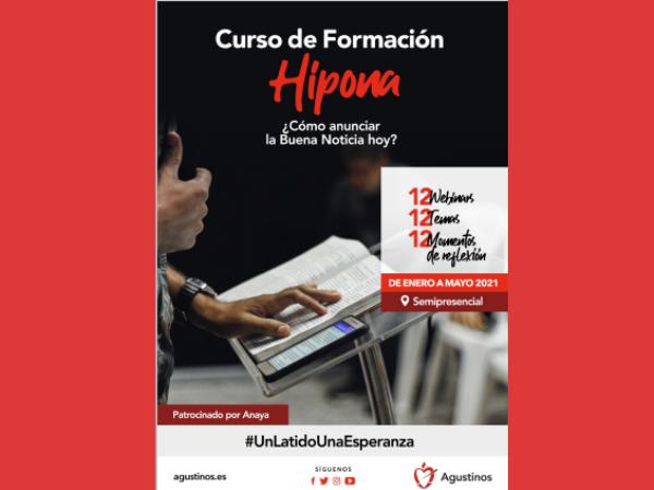 """""""¿Cómo anunciar la Buena Noticia hoy?"""" es el título del Curso de formación """"Hipona"""" que comenzará el próximo mes de enero."""