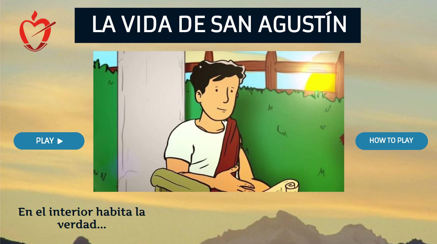 El P. Alberto Gadea, OSA, responsable de Pastoral del Colegio San Agustín de Ceuta y el profesor del centro Marco Marañés son los creativos del juego.