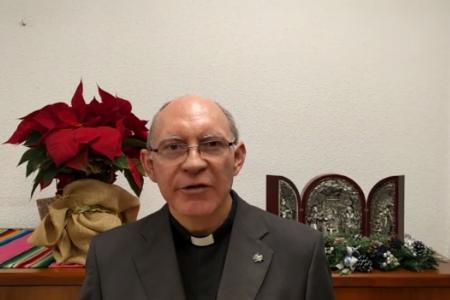 El P. Domingo Amigo felicita la Navidad a los religiosos y laicos de la OSA