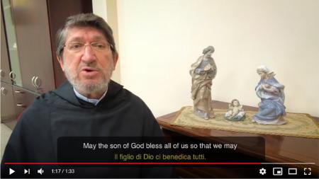 El Prior General de los agustinos, P. Alejandro Moral, desea feliz Navidad
