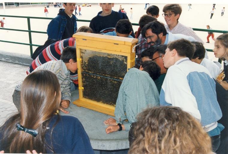 El religioso agustino, P. Félix Herrero, OSA, recibe la Abeja de Oro, que otorga el Museo de las Abejas del que él es promotor.
