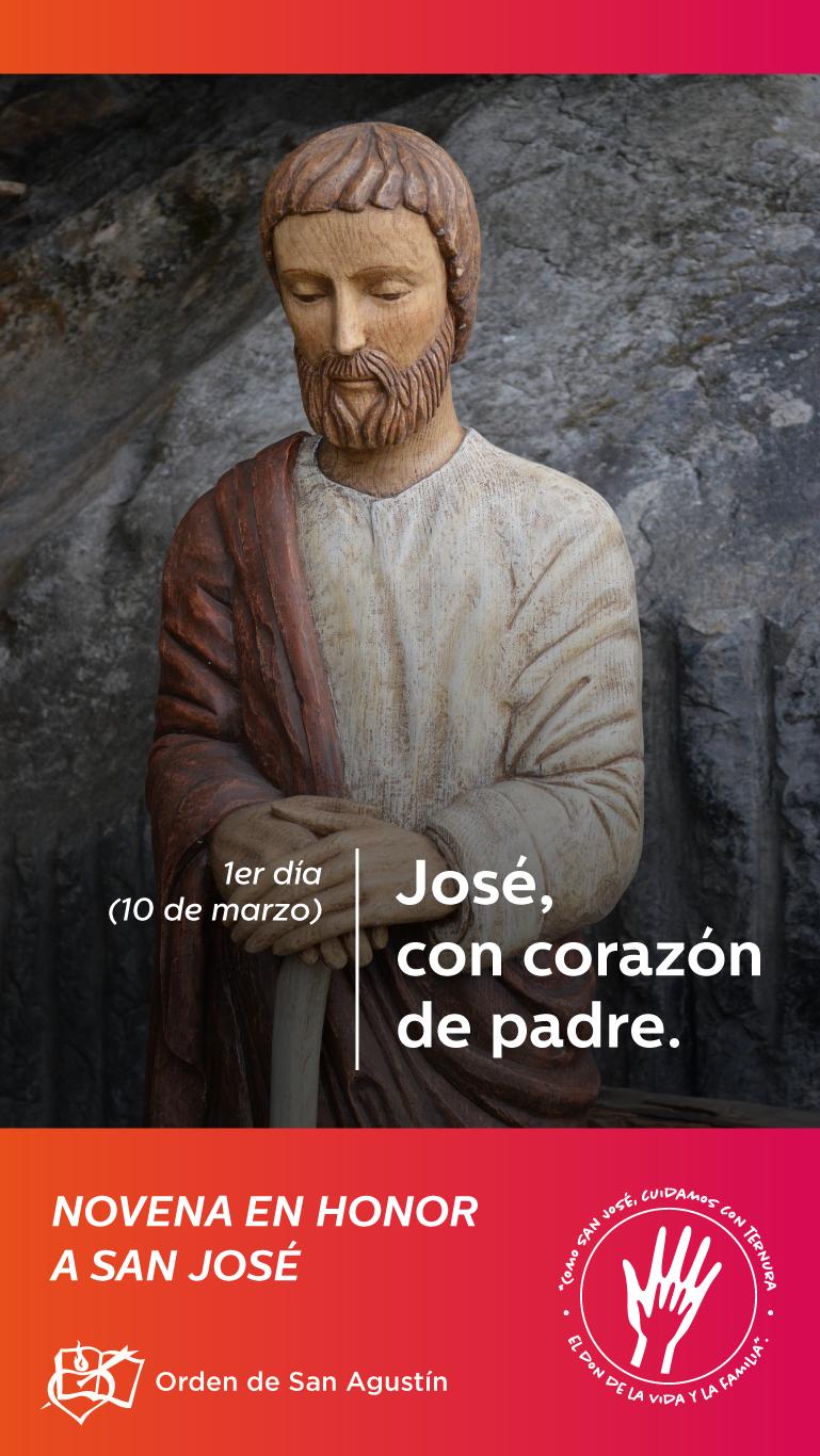 La figura de San José tienen una relevancia especial para los agustinos, ya que es el patrono de la Orden de San Agustín.