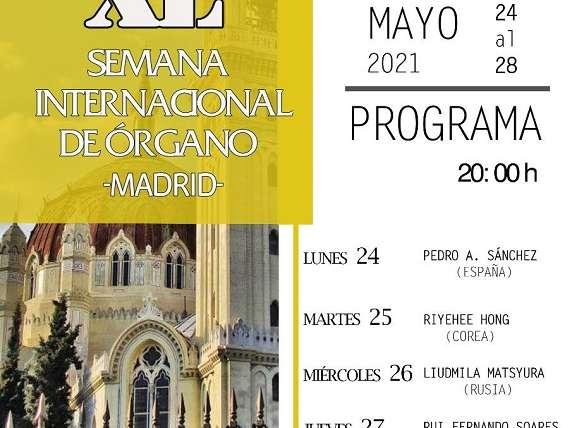 Los agustinos organizan la XL Semana Internacional de Órgano