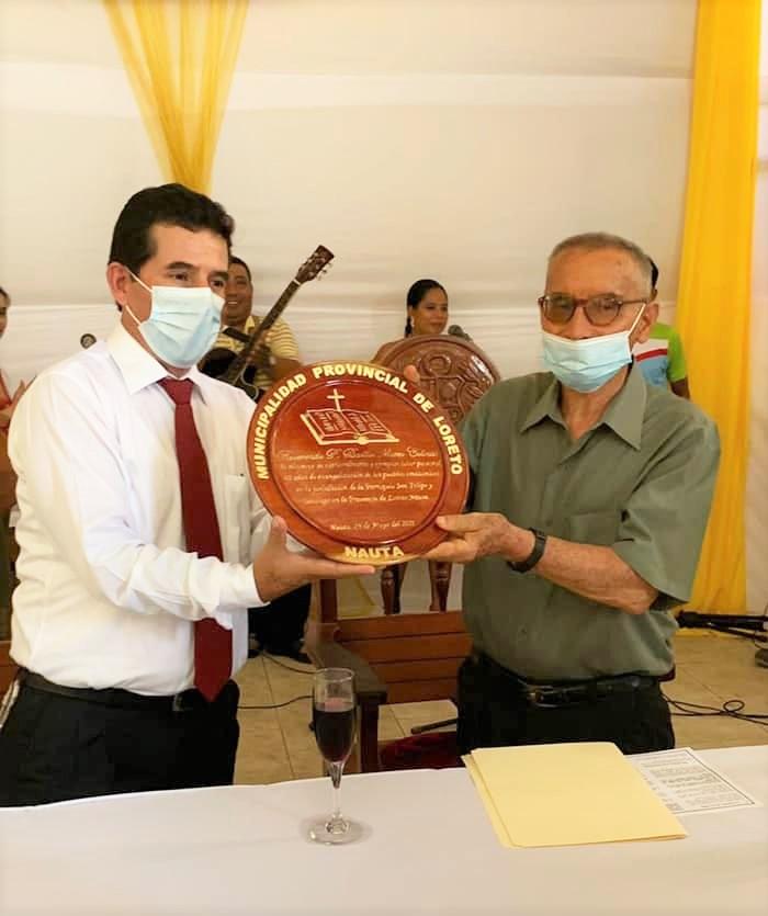 El ayuntamiento de la ciudad peruana de Nauta ha declarado ciudadano ilustre al misionero agustino P. Basilio Mateo.