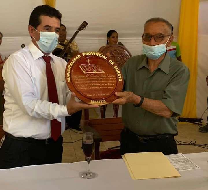 El agustino P. Basilio Mateos, declarado ciudadano ilustre de Nauta (Perú)