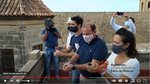 La Iglesia del Socorro y el Colegio San Agustín de Palma de Mallorca colaboran en el proyecto de conservación de vencejos.